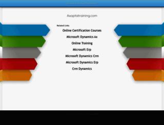 axaptatraining.com screenshot