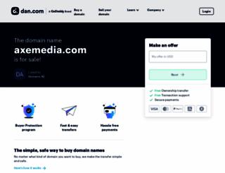 axemedia.com screenshot