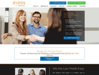 axesslaw.com screenshot
