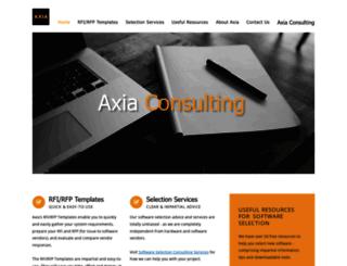 axia-consulting.co.uk screenshot