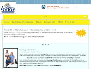axiomradiologyceu.com screenshot