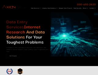 axiondata.com screenshot