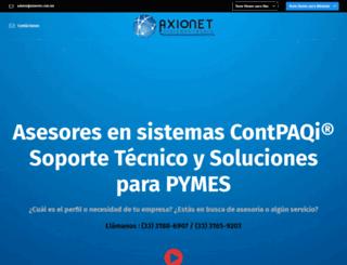 axionet.com.mx screenshot