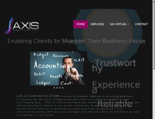 axisaccountingsolutions.com screenshot