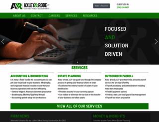 axleyrode.com screenshot