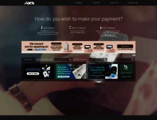 axs.com.sg screenshot