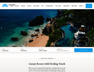 ayanaresort.com screenshot