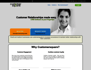 ayesha.customersquare.com screenshot