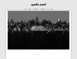 ayeshasaeed.com screenshot