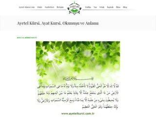 ayetel-kursi.com screenshot