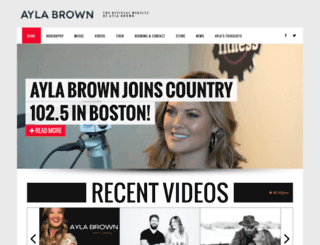 aylabrown.com screenshot
