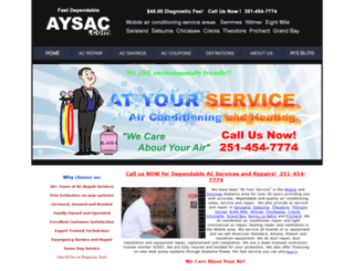 aysac.com screenshot