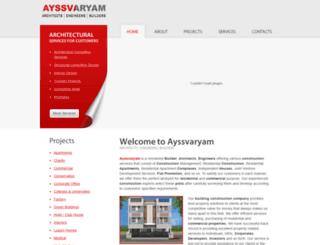 ayssvaryam.in screenshot