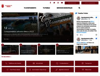 ayto-meco.es screenshot