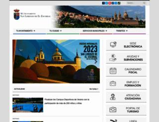 aytosanlorenzo.es screenshot