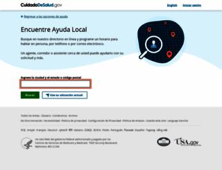 ayudalocal.cuidadodesalud.gov screenshot