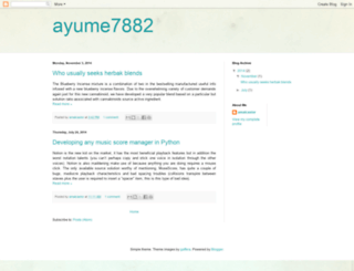 ayume7882.blogspot.com screenshot