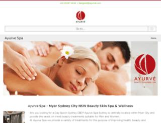 ayurve.com.au screenshot
