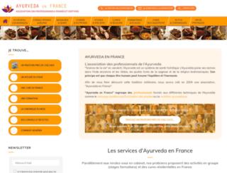 ayurveda-france.org screenshot