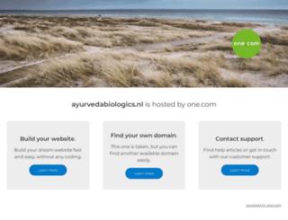 ayurvedabiologics.nl screenshot