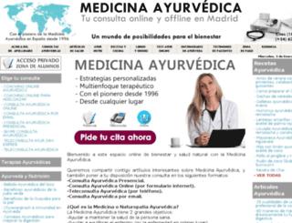 ayurvedaconsulta.com screenshot