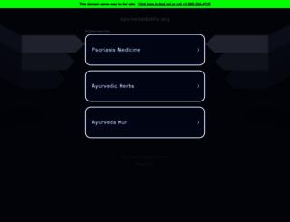 ayurvedadosha.org screenshot