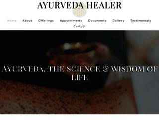 ayurvedahealer.com screenshot