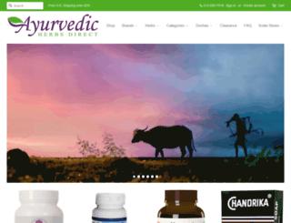 ayurvedicherbsdirect.com screenshot
