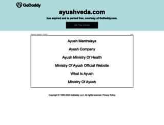 ayushveda.com screenshot
