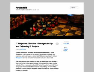 ayutajitsid.wordpress.com screenshot