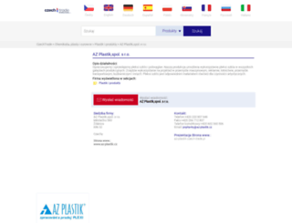 az-plastik.czech-trade.pl screenshot