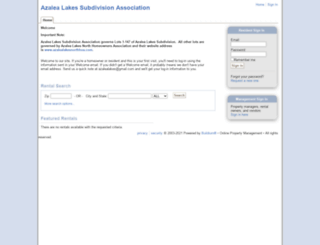 azalealakes.managebuilding.com screenshot