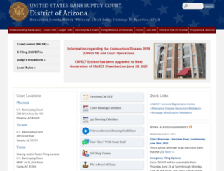 azb.uscourts.gov screenshot