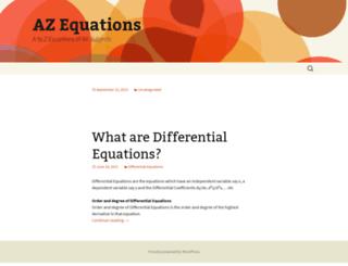 azequations.com screenshot