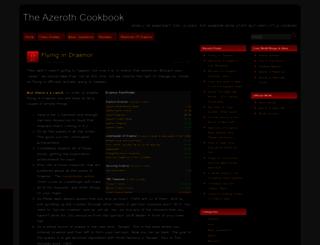 azerothcookbook.com screenshot