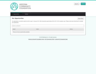azfoundation.academicworks.com screenshot