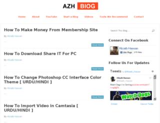 azhblog.com screenshot