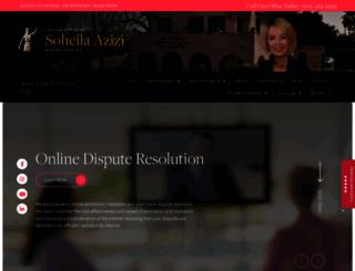azizilaw.com screenshot