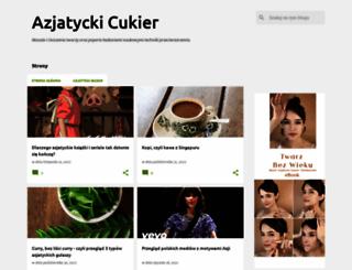 azjatyckicukier.blogspot.com screenshot