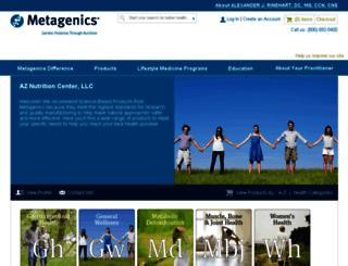 aznutrition.metagenics.com screenshot