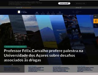 azores.gov.pt screenshot