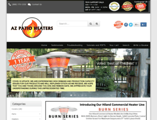 azpatioheaters.com screenshot