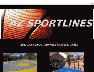 azsportlines.com screenshot