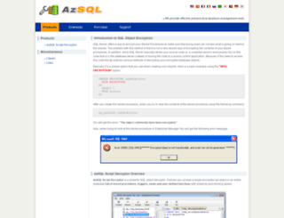 azsql.com screenshot