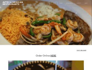 aztecamexicanrestaurants.com screenshot