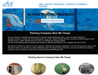 aztecapaintingservice.com screenshot