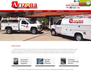 aztucsonelectricalsolutions.com screenshot