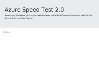 azurespeedtest.azurewebsites.net screenshot