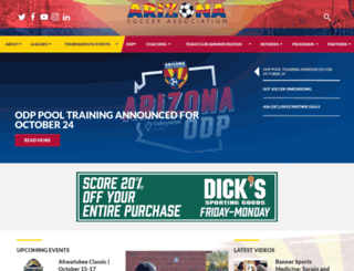 azyouthsoccer.org screenshot