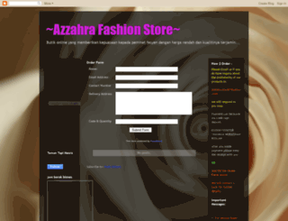 azzahracollections.blogspot.com screenshot